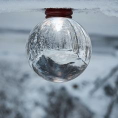 Having fun in the wintertime! #winter #winterscape #chrystalball