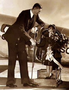 Robert Wadlow with Mary Pickford