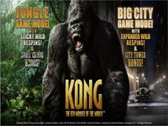 A great game from Playtech, two different modes and plenty of features! http://www.onlineslotgames4u.com/play/kong-slot-game/