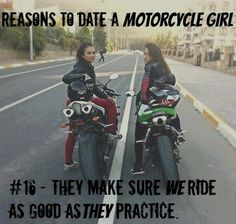 reasons to date a motorcycle girl 16