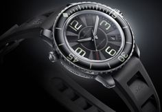 Blancpain 500 Fathoms 50015-12B30-52B.  The 48 mm case is sculptured in brushed titanium and accommodates a self-winding movement - Calibre 1315, developed specifically for the brand's sports wristwatches.