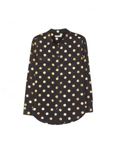 Black Dot Foil Print Top