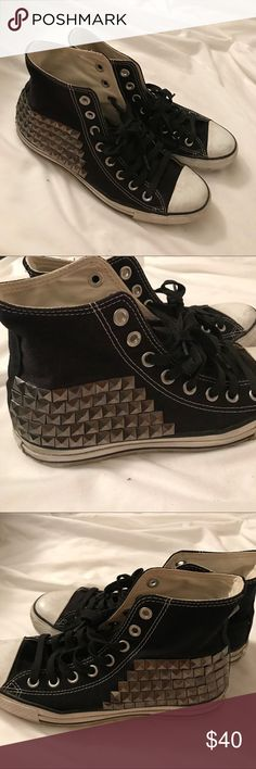 Studded Converse Bought off here, they don't fit right. Still in great condition. Minimal marks/Stains. Will clean before I ship out ☺️ Converse Shoes Sneakers