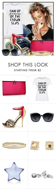 """""""Feeling Hungry"""" by doozer ❤ liked on Polyvore featuring H&M, Miss KG, GlassesUSA, David Yurman, Baccarat and Guide London"""