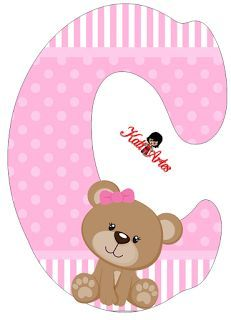 C is for campbell Clipart Baby, Cute Clipart, Baby Shawer, Baby Art, Scrapbook Letters, Baby Girl Scrapbook, Bear Party, Alphabet And Numbers, Cute Bears