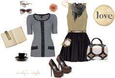"""""""afternoon mocha"""" by redheadcin on Polyvore"""