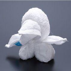 facts around us: Animal Towel Sculptures   Towel folding Origami