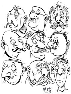 Cartoon: Faces 2 (medium) by Cartoons and Illustrations by Jim McDermott tagged faces,sketchbook