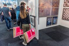 Buy or sell contemporary art, photography + sculpture at the affordable art fair Battersea in London. Find out how to exhibit and book artfair tickets online. Crafts For Kids, Arts And Crafts, Affordable Art Fair, Paper Shopping Bag, Louis Vuitton, London, Tote Bag, Bags, Target