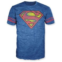 Bioworld Navy Heather Athletic Superman Tee ($14) ❤ liked on Polyvore featuring men's fashion, men's clothing, men's shirts, men's t-shirts, shirts, men, tops, boys, navy heather and old navy mens shirts