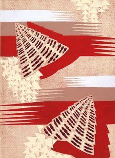 E.A. Seguy Prismes 9 Original hand-coloured pochoir lithograph for 'Prismes'. Published Charles Moreau, #Paris c. #1930 #pattern #design #textiles