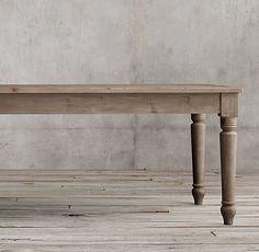 19th C. English Farmhouse Rectangular Dining Table