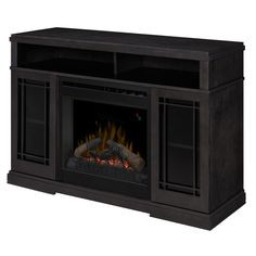 Lowes  Style Selections In Walnut Flat Wall Electric - Style selections electric fireplace