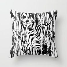 Zebra Safari Throw Pillow