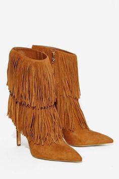Fringe Suede Boots