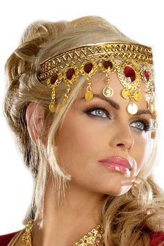 Women's Dripping Rubies Goddess Headpiece - Greek and Roman Costumes - Greek & Roman Accessories