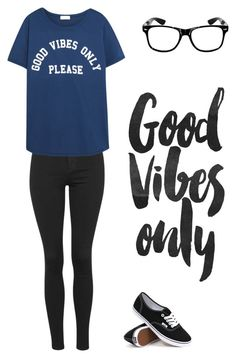 """""""Good Vibes Only"""" by futurecelebrity on Polyvore featuring Topshop, Mikoh, Vans, women's clothing, women, female, woman, misses and juniors"""
