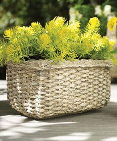 Look at this #zulilyfind! White Libby Basket by Napa Home and Garden, $14 !!  #zulilyfinds