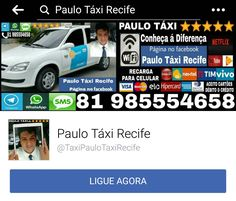 Página no Facebook: Paulo Táxi Recife