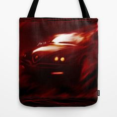 Flaming Alfa Gtv 916 Tote Bag by Stefano Rimoldi - $22.00