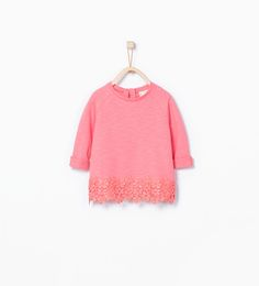 Sweatshirt with embroidered hem-Special Prices-Baby girl (3 months - 3 years)-KIDS | ZARA United States
