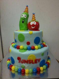 Veggie tales cake!