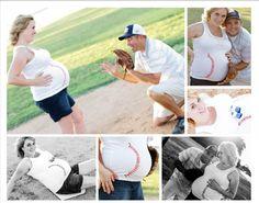 Our Baseball Maternity Photos