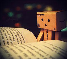 Mini robot reading: Danbo reading by Imaginary-Night on deviantART