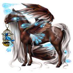 Blue Nightingale, Pegaz Koń luzytański Bułana #23912841 - Howrse