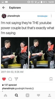 They are Dan Howell, Daniel James Howell, Connor Franta, Dan And Phill, Danisnotonfire And Amazingphil, Phil 3, Tyler Oakley, Phil Lester, Tabinof