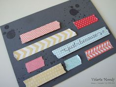 Stampin' Up! Tape It - Stamping with Val. X