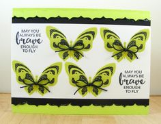 Hampton Art Blog: May You Always Be Brave card by Beverly Sizemore