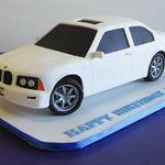 BMW 3-Series Cake Bmw Cake, Sculpted Cakes, Bmw 3 Series, Cars, Birthday, Birthdays, Autos, Car, Automobile