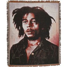 New Young Bob Marley Rasta Colors Circle Fleece Plush Throw Gift Blanket NIP NWT