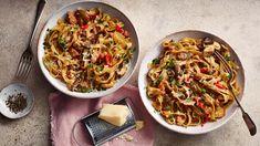 Tagliatelle with mushrooms and pancetta recipe - BBC Food