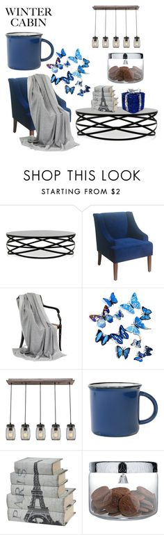 """LIT BLUE"" by babalucreaguilar on Polyvore featuring interior, interiors, interior design, hogar, home decor, interior decorating, canvas, Alessi, cabinstyle y wintercabin"