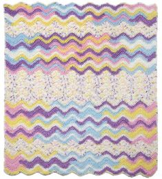 Make this cute baby throw with Lion Brand Ice Cream! Free crochet pattern.