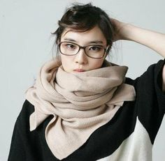 Fashion knitted  soft solid very warm imitated cashmere women winter scarf(9color mix) on AliExpress.com. $7.90