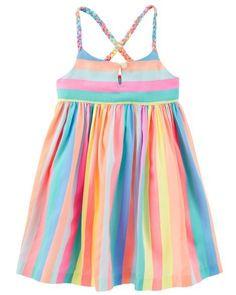 Rainbow Crossback Dress