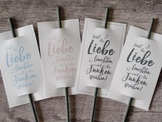 """""""Let love shine and sparkle"""". Whether during the wedding dance, in the evening in the gard Romantic Wedding Stationery, Botanical Wedding Stationery, Sign, Hairstyle Ideas, Sparkles, Material, Rose Gold, Posts, Weddings"""