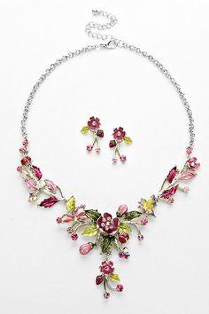 Secret Garden Necklace in Orchid