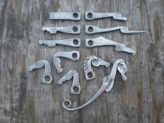 forged animal heads