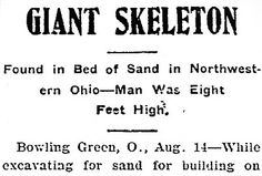 The Encyclopedia of Ancient Giants (Nephilim) in North America: Giant Human Skeletons Discovered and Reported in Newspapers in Pennsylvania, Ohio, Indiana, Illinois, Wisconsin and Minnesota Ancient Aliens, Ancient History, Nasa History, Giant Skeletons Found, Nephilim Giants, Relic Hunter, American Giant, Human Skeleton, Mystery Of History