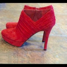 Boots This brand is so comfortable. Size 7 M. It runs a little small. I'm a 6.5. Only worn once. Gianni Bini Shoes