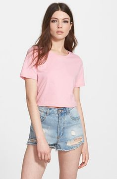I love how simple this pink crop top is.  Goes with everything in your summer wardrobe. Leith Crop Crewneck Tee | Nordstrom | Pretty Little Liars
