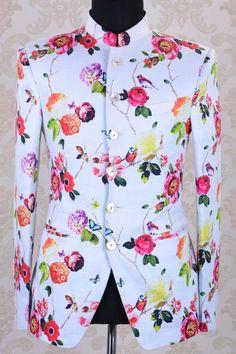 Jodhpuri Suit-Off White & Pink-ST634