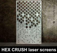 Geometric laser cut screens