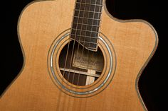 Custom Acoustic Guitar Rosette, Cocobolo Alchemist Guitar, Lichty Guitars