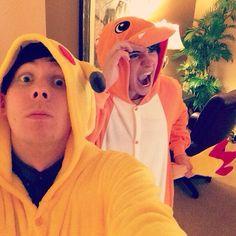 Dan and phil; pikachu and charmander