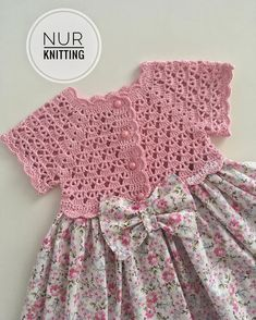 Crochet Vest Pattern Knit Crochet Crochet Patterns Crochet Baby Booties Baby Girl Crochet Crochet For Kids Baby Knitting Hand Embroidery Baby DressIG ~ ~ crochet yoke for Irish lace, crochet, crochet p This post was discovered by Ел New model, new Toddler Dress Patterns, Dress Sewing Patterns, Baby Knitting Patterns, Baby Patterns, Baby Girl Crochet, Crochet Baby Clothes, Crochet For Kids, Crochet Dresses, Crochet Vest Pattern